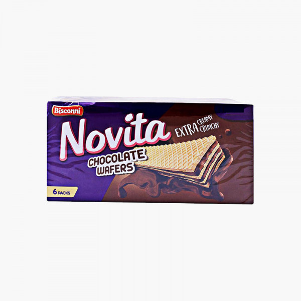 Bisconni Novita Chocolate Wafers Snack Pack Box 6 Pcs
