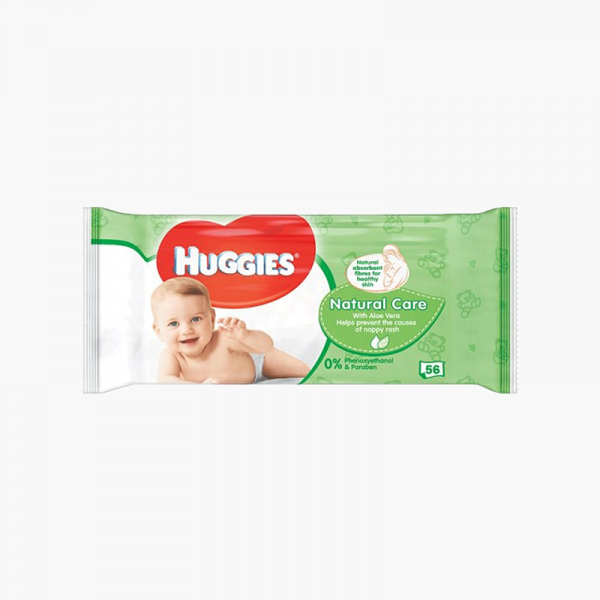 Huggies Baby Wipes Natural Care With Aloe Vera 56 Pcs