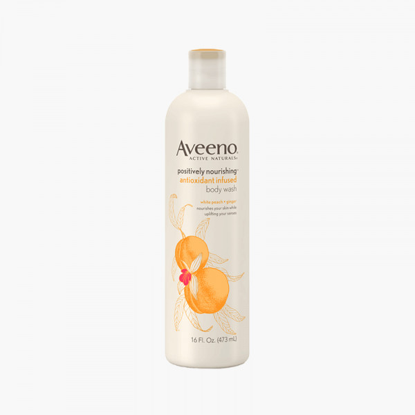 Aveeno Body Wash White Peach And Ginger 473ML