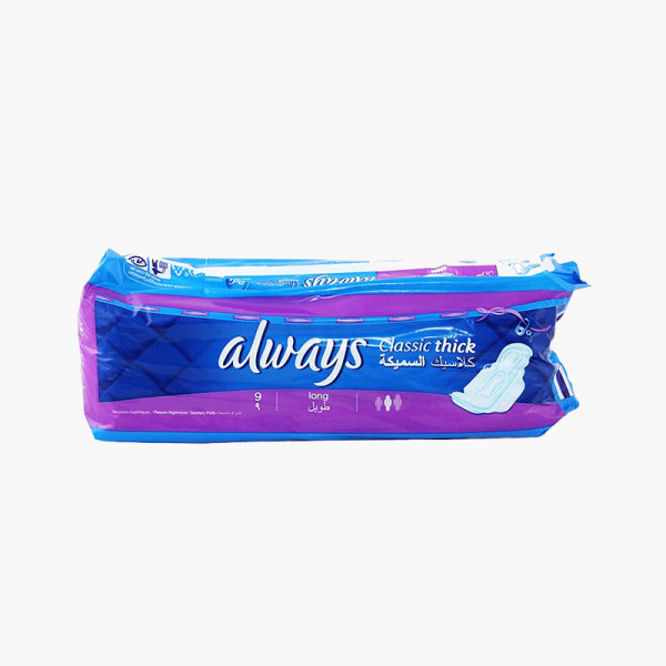 Always Classic Thick Pads Long 9 Pcs
