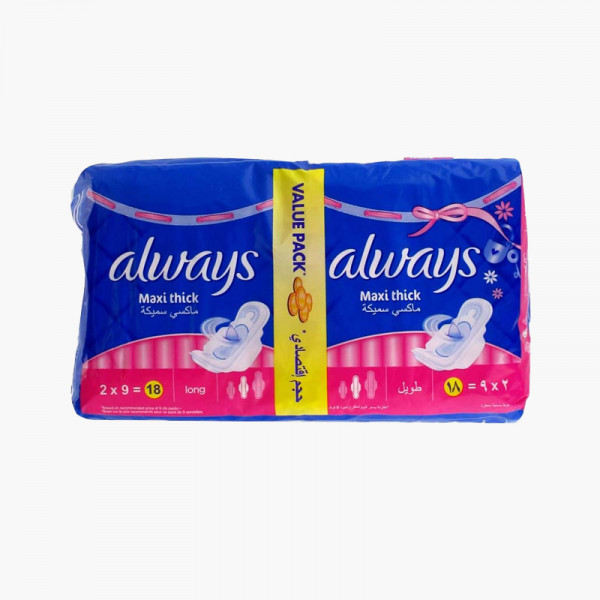 Always Pads Maxi Thick Long 8 Pcs